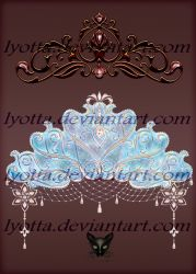 Snowy gold and silver diadems with jewelry by Lyotta