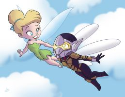 Tinkerbell and The Wasp by NoDiceMike