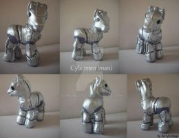 My little Pony Custom Doctor Who Cybermen by BerryMouse