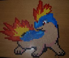 Quilava - Perler or Hama by Chrisbeeblack