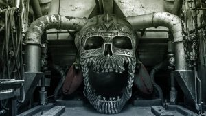 Metal Skull in Factory wallpaper version by Sonicz0r