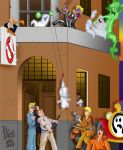 Toontown View - Ghostbuster HQ by BoscoloAndrea