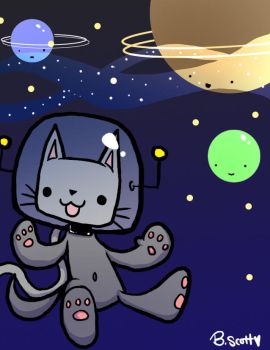 Space kitty adventure by Red-Revolver