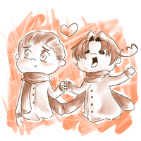 OTP day 1:holding hands by I-AM-M-O-I