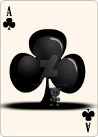 Fella Cards - Ace of Clubs by NoxieArt