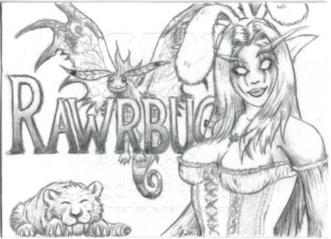 BlizzCon Badges - Rawrbug by EmberIsolte