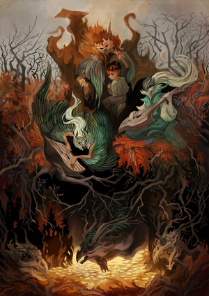 Autumn fairy tales of elfs by Sirmaril