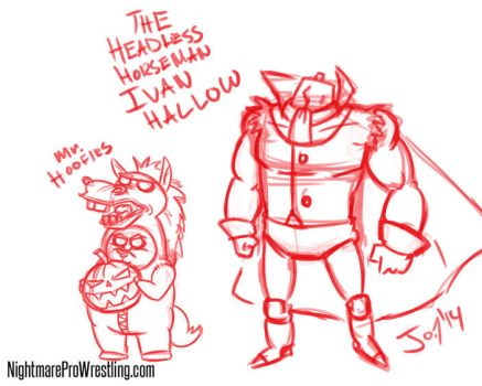 Ivan Hallow and Mr. Hoofies digital pencils by JonDavidGuerra