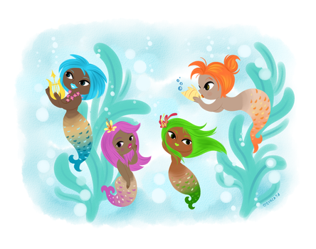 Pretty Summer Mermaids by syrcaid