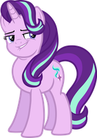 Starlight Glimmer (Smug vector) by davidsfire