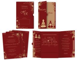 Wedding Invitation Card by m4pple