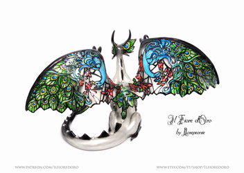 Peacock Glasswing Dragon (deluxe)3 by rosepeonie