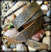 Norse Knotwork and Runic Belt by Half-Goat