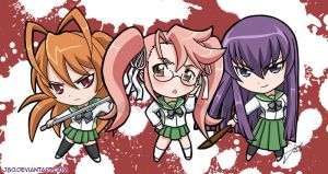 Chibi HS Girls of the Dead by J8d