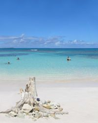 White beach of Antigua by HandmaidenPhi