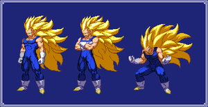 SS3 Vegeta | Dragon Ball Z: Extreme Butoden by MPadillaTheSpriter