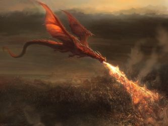 Red dragon by Manzanedo
