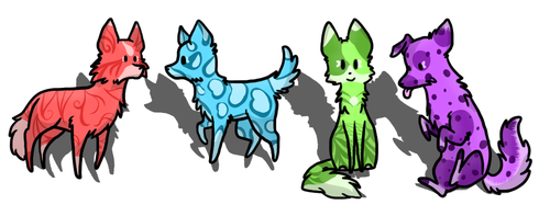 Dog/Wolf Adoptables -Open- by RoxyAbsinthe