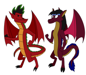 Jake Long and Mayzie Brooks redrawn by srebak