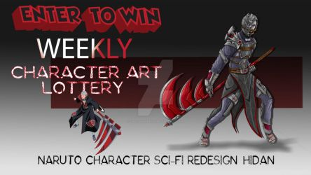 WEEKLY CHARACTER ART LOTTERY: Redesign Hidan by ChaosShannon