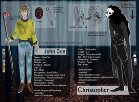 [CP OC] John Doe and Christopher by leviiath