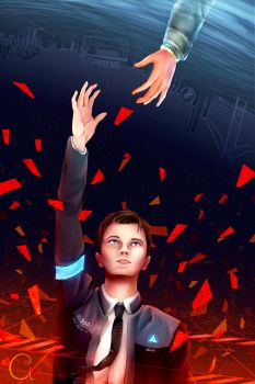 Connor: Become Deviant (Speedpaint Video Linked) by TheRagDollGirlArt
