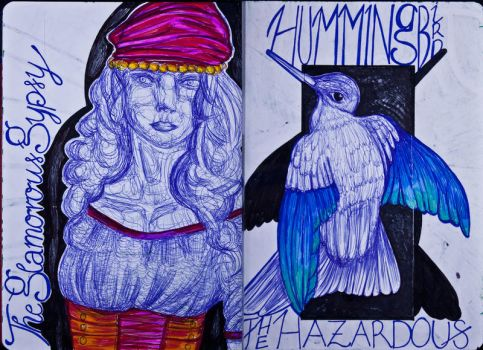 The Sketchbook Project 2013 - G and H by Nakilicious