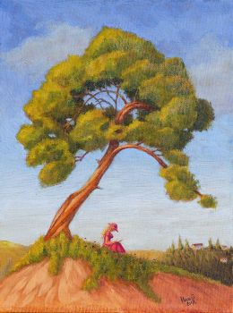 Under the tree - oil by Vanxee