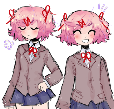 natsuki doodles by fizzy-drinks