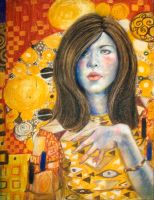 Self Portrait - Klimt style by jia-jia