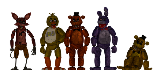 Freddy and the gang (Blender) by DangAdv64