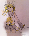 Rin Kagamine-colored by Rin-luver