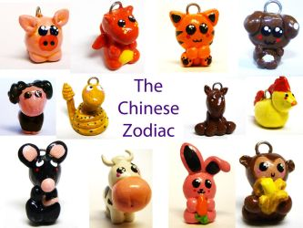 Chinese Zodiac Charms by leinani1992