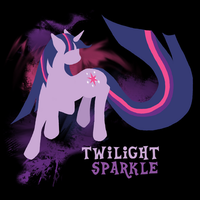 Twilight Sparkle Silhouette Shirt Design by jewlecho