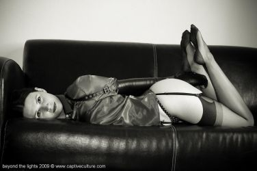 Leather Restraint on the Sofa by ilovefrenchgirls