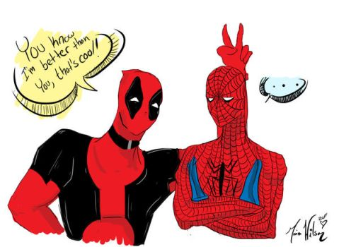 Spidey and Pooly by Meioma