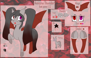 Amisha Thunder ref. sheet by LilSimona