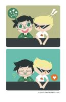 Homestuck: Jake and Dirk by Q-pon
