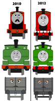 Redraw and improved Thomas characters by Percyfan94