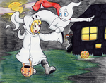 Halloween ghosts by Rhay-Robotnik