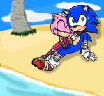 Sonamy: By the Seashore (contest entry) by Infinity-Drawings