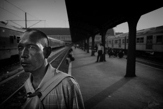 Waiting For The Train. by ditya