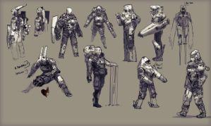 Soldier concepts 1 by Zedig