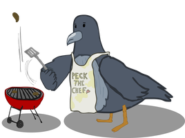 A Pigeon Who Considers Himself a Chef by Vigorousjammer