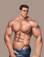 Practice with a hunk 6 by BRpanha