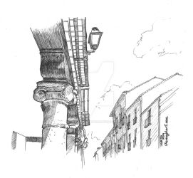 Column streets by ChemaIllustration