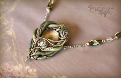 Elven Wood Necklace by Plumevine
