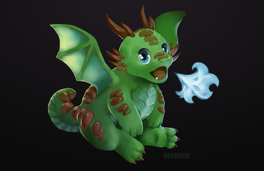 Dragon Puff by Rikkoshaye