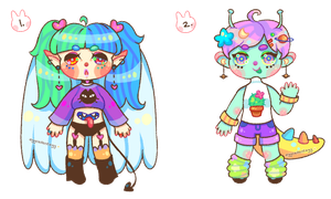 adopts: colorful cuties | closed by eggcellentegg