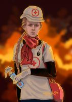 Ukraine in Flames by CurlyJul